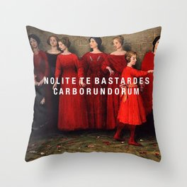 the bastards Throw Pillow