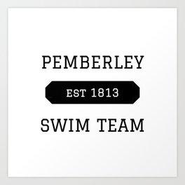 Pemberley Swim Art Print