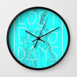 LOST DOG DAYS Wall Clock