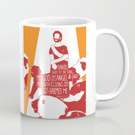 Daniel Faith Saved from Mouth of Lions (Bible Characters) Coffee Mug