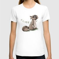 racoon T-shirts featuring A racoon question by CookiesOChocola