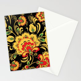 Khokhloma pattern Stationery Cards