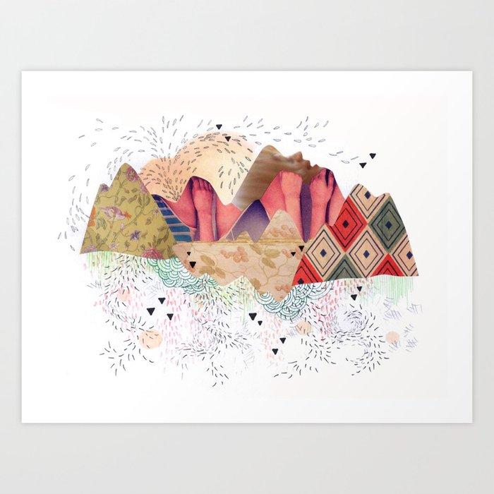 montañas Art Print