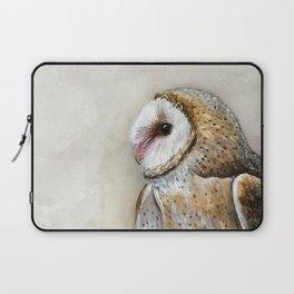 Barn Owl Watercolor, Birds Of Prey Wild Animals Owls Laptop Sleeve
