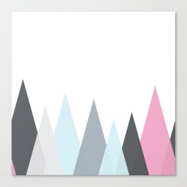 Scandinavian Geometric vector pattern Canvas Print
