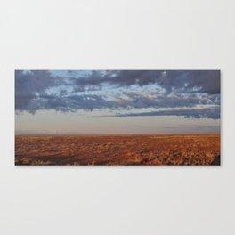 Morning Desert Clouds Canvas Print