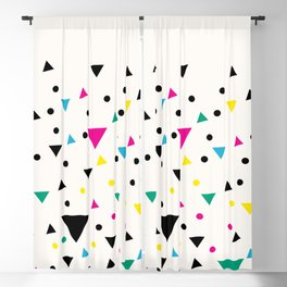 Oakland 1993 - Memphis Throwback Bright Retro 1990s 80s Trendy Hipster Pattern Eighties Blackout Curtain
