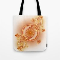 clockwork Tote Bags featuring Clockwork by Eli Vokounova