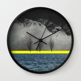 Between Mountain and Sea Wall Clock