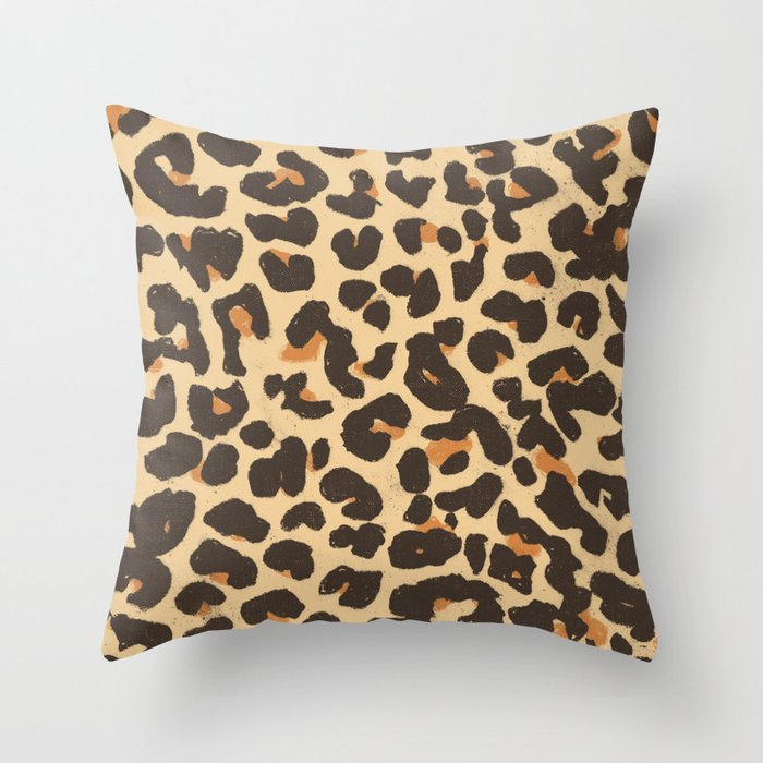 Just Leopard Throw Pillow By Speakerine Society6