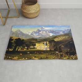 The Rocky Mountains, Lander's Peak by Albert Bierstadt Rug