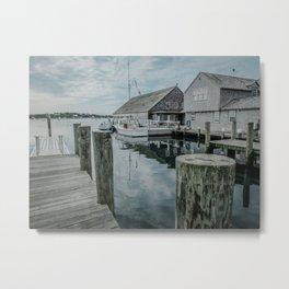 Fishing Dock - Edgartown Metal Print