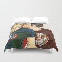 kiss Duvet Covers featuring KISS by FISHNONES