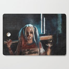 Harley Quinn - The Clown Princess Of Gotham With Her Goodnight Bat And Bubble Gum Cutting Board