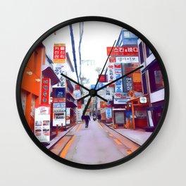 Seoul Streets Wall Clock