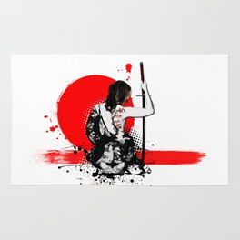 Trash Polka - Female Samurai Rug