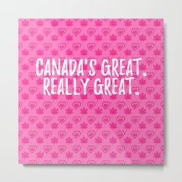 Pattern for Camilla 2. Canadas great Metal Print