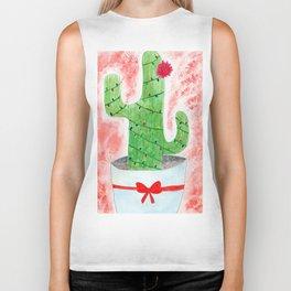 Christmas Cactus Biker Tank