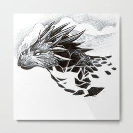 Volcanic Dragon Metal Print