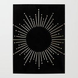 Mod Sunburst Gold 1 Poster