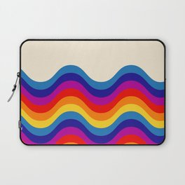 Wavy retro rainbow Laptop Sleeve