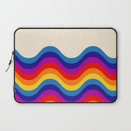 Wavy retro rainbow Laptop Sleeve