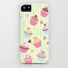 Cupcakes with love iPhone Case