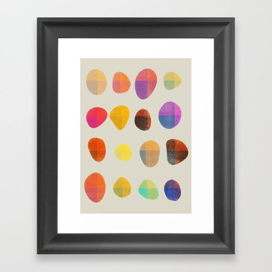 Painted Pebbles 4 Framed Art Print