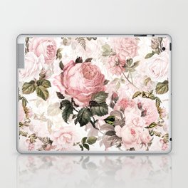 Vintage & Shabby Chic - Sepia Pink Roses  Laptop & iPad Skin