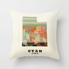 Utah state map modern Throw Pillow
