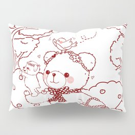 The Adventures of Bear and Baby Bear-Picking Berries Pillow Sham