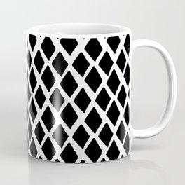 Rhombus Black And White Coffee Mug