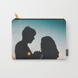 MAN - WOMAN - HANDS - LIGHTS - CIRCLES - PHOTOGRAPHY Carry-All Pouch