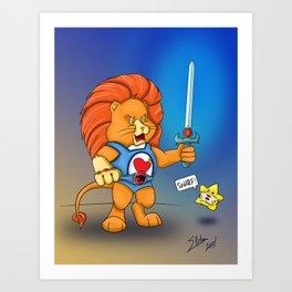 Braveheart Lion O Art Print