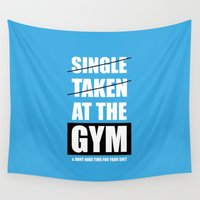 gym Wall Tapestries featuring Lab No. 4 - At The Gym Gym Motivational Quotes Poster by Lab No. 4