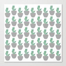 Succulent pattern Canvas Print