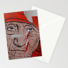 Mother Teresa crying a warning Stationery Cards