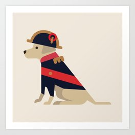 Napoleon, dog emperor Art Print