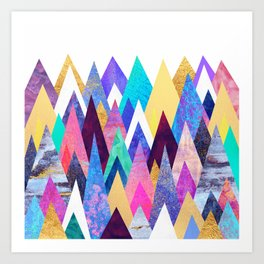 Enchanted Mountains Art Print