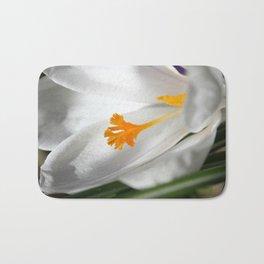 White Crocus Macro Bath Mat