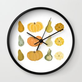 Fall is For The Gourds Wall Clock
