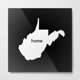 West Virginia State Map Home Print Metal Print