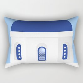 Santorini #02 Rectangular Pillow