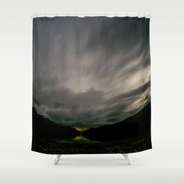 Lake Hawea lake wakatipo blue crystal clear panorama blue fisheye Shower Curtain