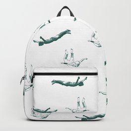 Free falling in green Backpack