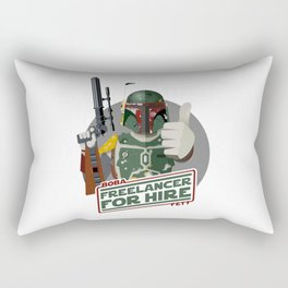 Freelance Bounty Hunter Rectangular Pillow