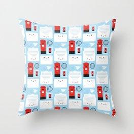 Happy Mail - Kawaii Post Throw Pillow