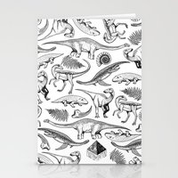 dinosaurs Stationery Cards featuring Dinosaurs by La Lucha Eterna Custom Tattoo