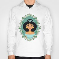 jasmine Hoodies featuring Jasmine by Joey Ellson