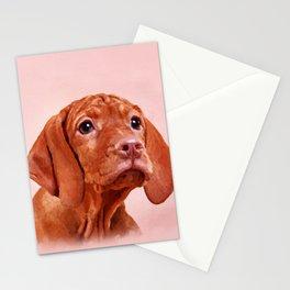 Vizsla puppy- Hungarian pointer Stationery Cards